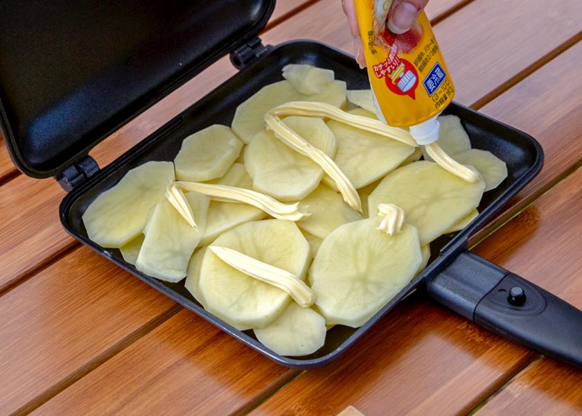 バターを乗せる