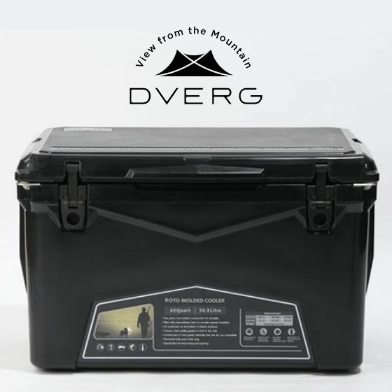 DVERG×ICELAND クーラーボックス 60QT スモーキーブラック